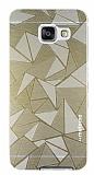 Motomo Prizma Samsung Galaxy A3 2016 Metal Gold Rubber Kılıf