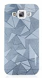 Motomo Prizma Samsung Galaxy E5 Metal Silver Rubber Kılıf