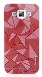Motomo Prizma Samsung Galaxy E5 Metal Kırmızı Rubber Kılıf