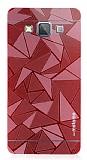 Motomo Prizma Samsung Galaxy A5 Metal Kırmızı Rubber Kılıf