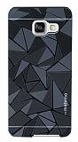 Motomo Prizma Samsung Galaxy A7 2016 Metal Siyah Rubber K�l�f