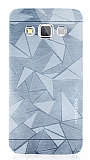Motomo Prizma Samsung Galaxy A3 Metal Silver Rubber Kılıf