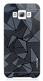 Motomo Prizma Samsung Galaxy A8 Metal Siyah Rubber K�l�f