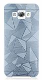 Motomo Prizma Samsung Galaxy A8 Metal Silver Rubber Kılıf