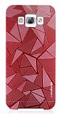 Motomo Prizma Samsung Galaxy A8 Metal Kırmızı Rubber Kılıf