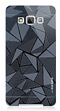 Motomo Prizma Samsung Galaxy A7 Metal Siyah Rubber K�l�f