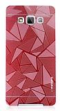 Motomo Prizma Samsung Galaxy A7 Metal Kırmızı Rubber Kılıf