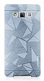 Motomo Prizma Samsung Galaxy A7 Metal Silver Rubber Kılıf