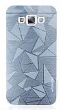 Motomo Prizma Samsung Galaxy E7 Metal Silver Rubber Kılıf