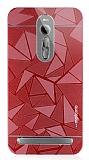 Motomo Prizma Asus ZenFone 2 Metal Kırmızı Rubber Kılıf