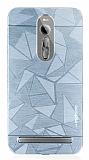 Motomo Prizma Asus ZenFone 2 Metal Silver Rubber Kılıf