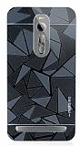 Motomo Prizma Asus ZenFone 2 Metal Siyah Rubber Kılıf
