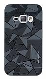 Motomo Prizma Samsung Galaxy J1 2016 Metal Siyah Rubber Kılıf