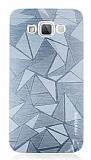 Motomo Prizma Samsung Galaxy Grand Max Metal Silver Rubber Kılıf
