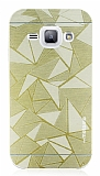 Motomo Prizma Samsung Galaxy J1 Metal Gold Rubber Kılıf