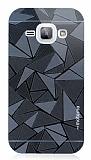 Motomo Prizma Samsung Galaxy J1 Metal Siyah Rubber Kılıf