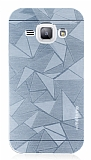 Motomo Prizma Samsung Galaxy J1 Metal Silver Rubber K�l�f