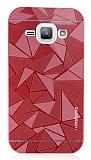Motomo Prizma Samsung Galaxy J1 Metal Kırmızı Rubber Kılıf