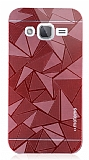 Motomo Prizma Samsung Galaxy J2 Metal Kırmızı Rubber Kılıf
