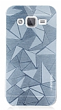 Motomo Prizma Samsung Galaxy J2 Metal Silver Rubber Kılıf