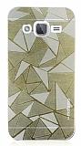 Motomo Prizma Samsung Galaxy J2 Metal Gold Rubber Kılıf