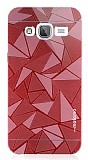 Motomo Prizma Samsung Galaxy J3 2016 Metal Kırmızı Rubber Kılıf