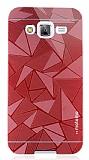 Motomo Prizma Samsung Galaxy J5 Metal Kırmızı Rubber Kılıf