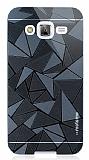 Motomo Prizma Samsung Galaxy J5 Metal Siyah Rubber Kılıf