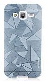 Motomo Prizma Samsung Galaxy J5 Metal Silver Rubber Kılıf