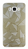 Motomo Prizma Samsung Galaxy J7 2016 Metal Gold Rubber Kılıf