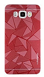 Motomo Prizma Samsung Galaxy J7 2016 Metal Kırmızı Rubber Kılıf