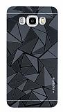 Motomo Prizma Samsung Galaxy J7 2016 Metal Siyah Rubber Kılıf