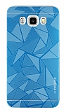 Motomo Prizma Samsung Galaxy J7 2016 Metal Mavi Rubber Kılıf