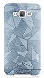 Motomo Prizma Samsung Galaxy J7 Metal Silver Rubber Kılıf