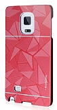 Motomo Prizma Samsung Galaxy Note Edge Metal K�rm�z� Rubber K�l�f