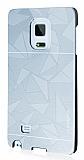 Motomo Prizma Samsung Galaxy Note Edge Metal Silver Rubber Kılıf
