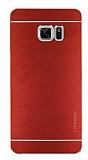 Motomo Samsung Galaxy Note FE Metal Kırmızı Rubber Kılıf