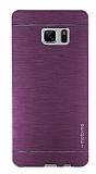 Motomo Samsung Galaxy Note FE Metal Pembe Rubber Kılıf