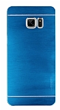 Motomo Samsung Galaxy Note FE Metal Mavi Rubber Kılıf