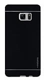 Motomo Samsung Galaxy Note FE Metal Siyah Rubber Kılıf
