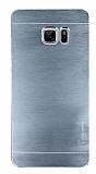Motomo Samsung Galaxy Note FE Metal Silver Rubber Kılıf