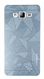 Motomo Prizma Samsung Galaxy On7 Prizma Metal Silver Rubber K�l�f