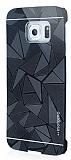 Motomo Prizma Samsung Galaxy S6 Edge Metal Siyah Rubber Kılıf