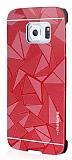 Motomo Prizma Samsung Galaxy S6 Edge Plus Metal Kırmızı Rubber Kılıf