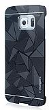 Motomo Prizma Samsung Galaxy S6 Edge Plus Metal Siyah Rubber K�l�f
