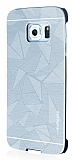 Motomo Prizma Samsung Galaxy S6 Edge Plus Metal Silver Rubber K�l�f