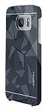 Motomo Prizma Samsung Galaxy S7 Metal Siyah Rubber Kılıf