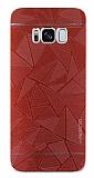 Motomo Prizma Samsung Galaxy S8 Metal Kırmızı Rubber Kılıf