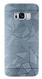Motomo Prizma Samsung Galaxy S8 Metal Silver Rubber Kılıf