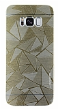 Motomo Prizma Samsung Galaxy S8 Plus Metal Gold Rubber Kılıf